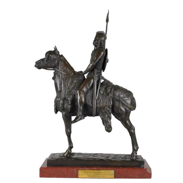 Chef Gaulois à cheval bronze Frémiet Barbedienne XIXeme siecle
