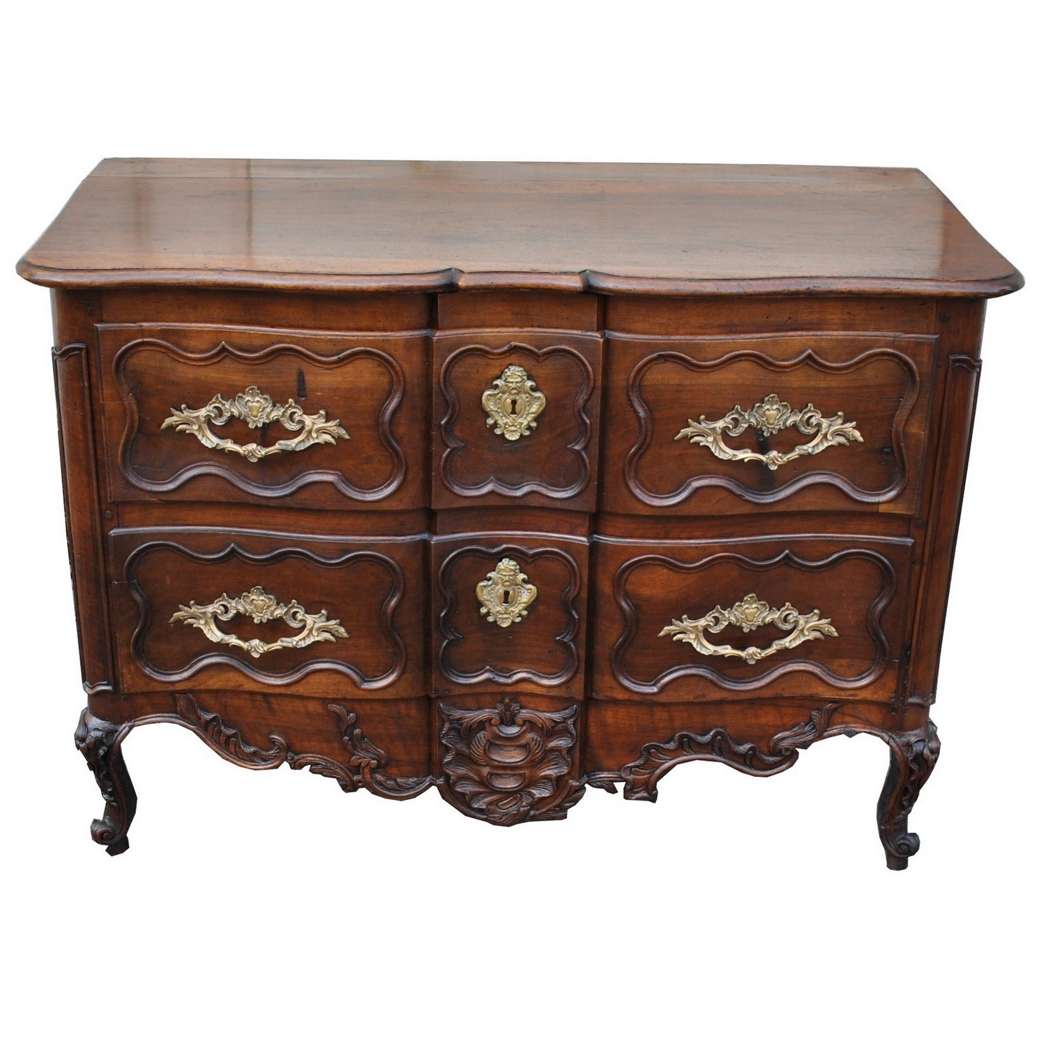 Commode Provencale En Noyer Sculpte Xviiieme Siecle Trianon