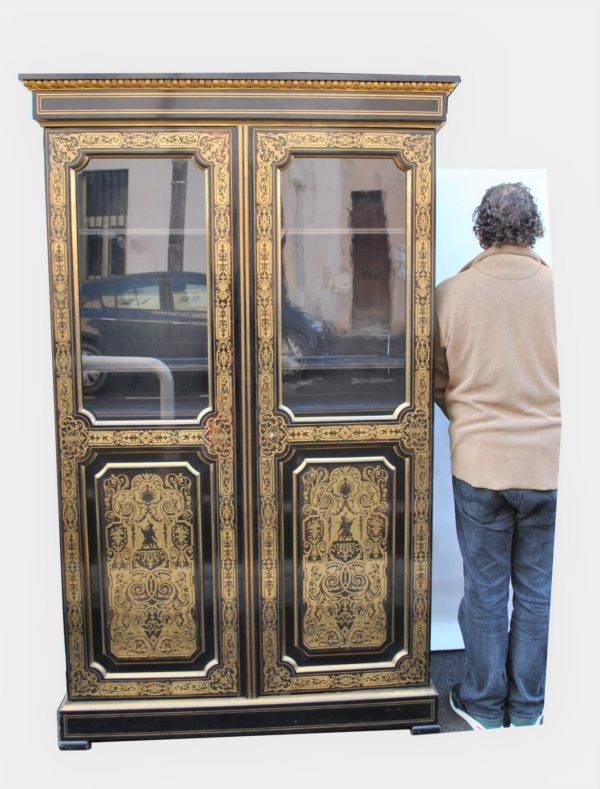 bibliotheque Boulle 2 portes dimensions