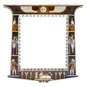 egyptomania frame wood mother-of-pearl and ivory 19th century