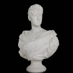 bust of young lady  marble Carrare Alfred Boucher